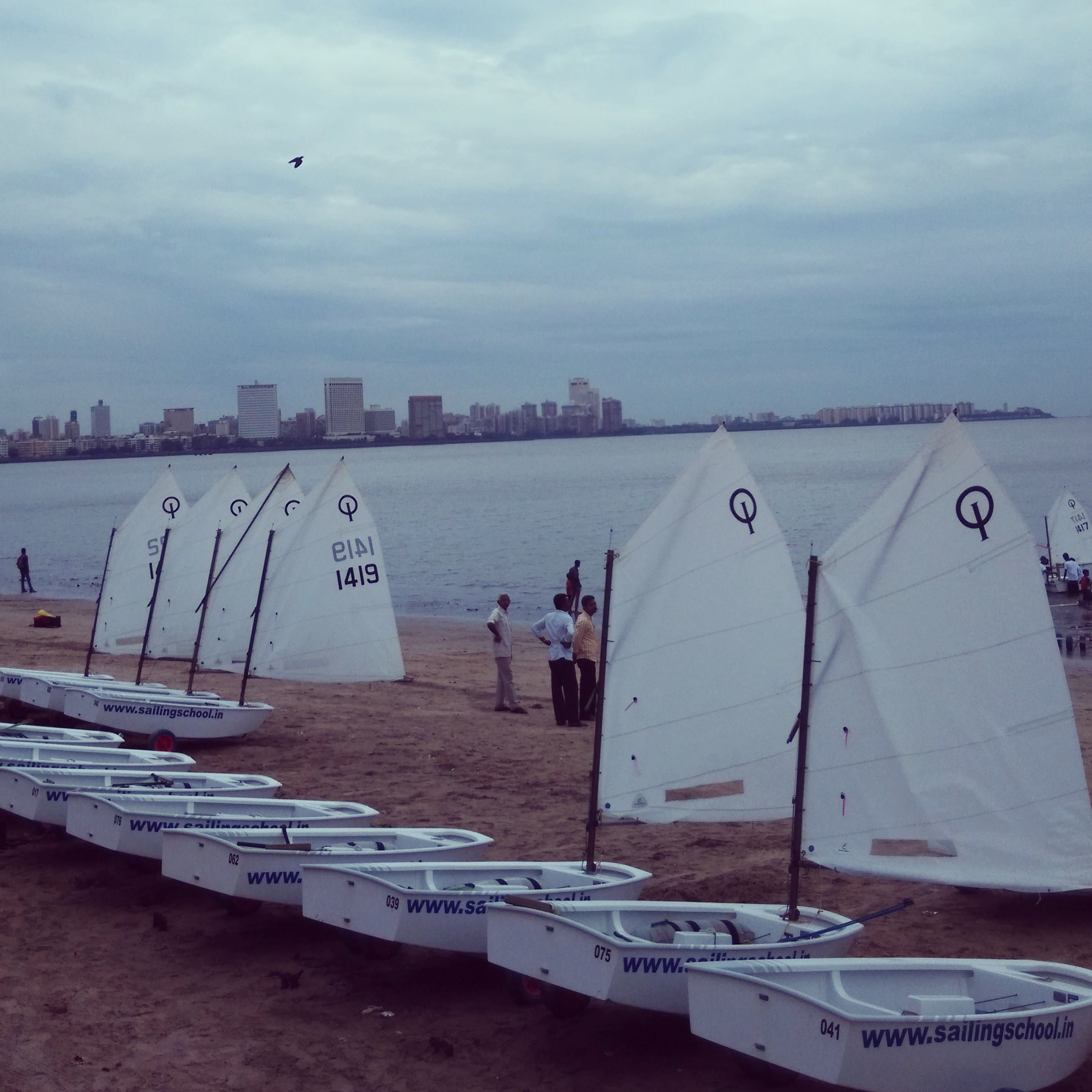 Optimist Sail boats at Marine Drive