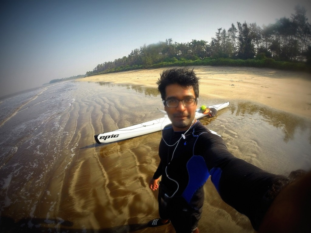 Me, Kayak and the untouched beach of Awas